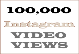 100,000 Instagram Video Views