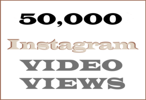 50,000 Instagram Video Views