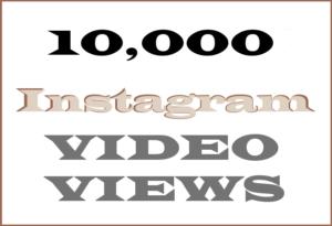 10,000 Instagram Video Views