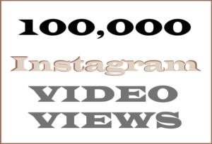 100,000 Instagram Video Views