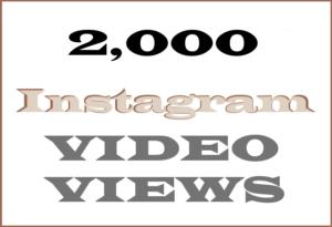 2000 Instagram Video Views