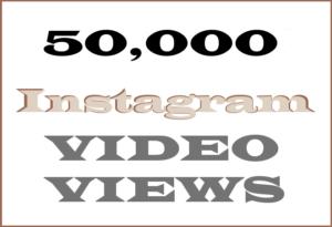 50,000 Instagram Video Views